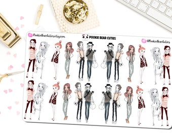 Hipster Fashion Girsl Stickers -0151