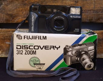 Fujifilm Discovery 312 Zoom Vintage Compact Camera Film Tested