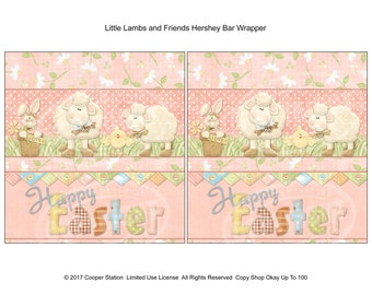 Printable Digital Easter Candy Bar Wrapper 002 - 1.55 oz Size - Hershey Candy Bar Wrapper