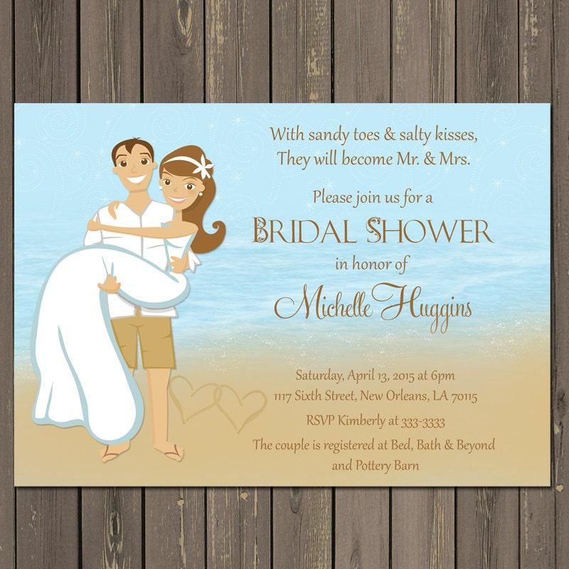 Beach Bridal Shower Invitation Ocean Bridal Shower