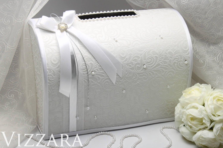 Box For Envelopes wedding Elegant silver wedding Card Box Gift