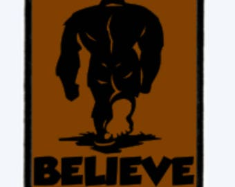 Bigfoot, Morale Patches, Hook And Loop, Hook Backed. Full Color, Believe, Tactical, Patch,