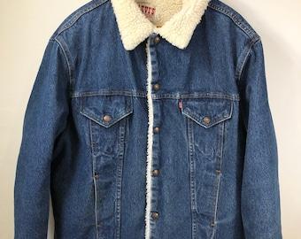 Levi Strauss coat sherpa denim jacket 46 / Large