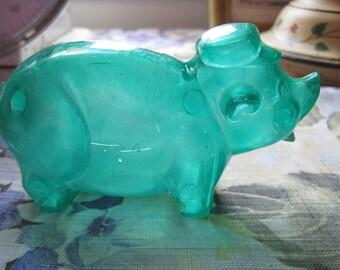 Vintage Celluloid Piggy Bank