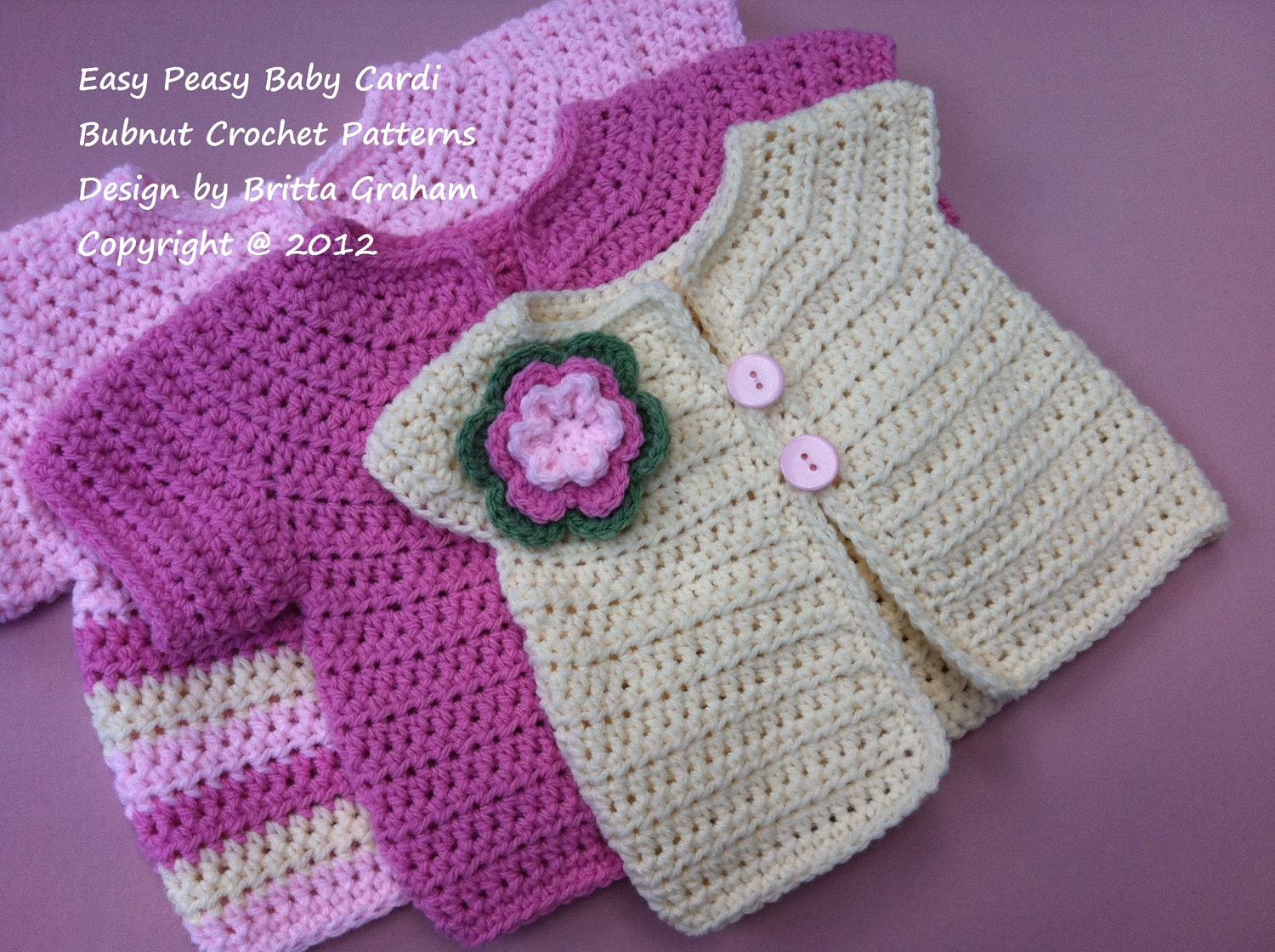 Crochet Baby Jacket Pattern - Easy Peasy Cardigan Crochet Pattern No ...