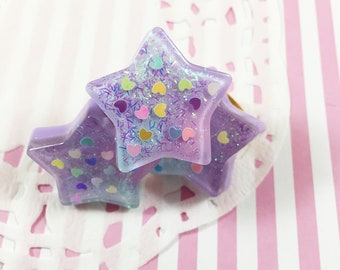 Fairy Kei Star Ring | Kawaii Ring | Kawaii Star | Pastel Star | Pastel Ring | Fairy Kei Ring | Retro Ring | 90s Ring | Purple Star | Rainbow