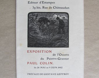 Exhibition of the work of engraver Paul Colin - [Sagot, 1902.
