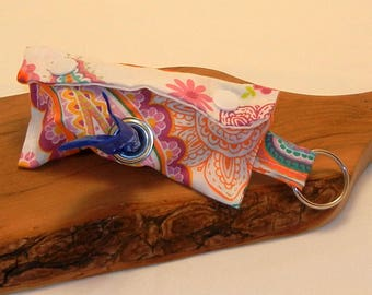Bright Paisley Print Doggie Doody Bag Holder