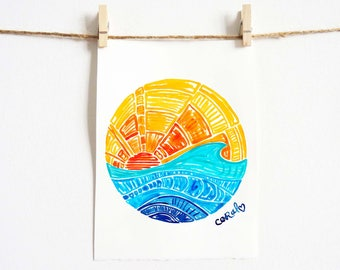 Beach Gifts, Summer Art 'Surf Gallery Series No. 9'