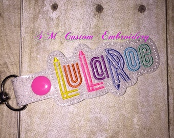 Sparkly Lula Consultant Embroidered Keychain | Advertise L L R business | LuLa Babies Gift | L L R keyfob | L L R keychain