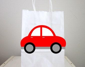Red Car Goody Bags, Car Favor Bags, Car Gift Bags, Car Birthday, Car Party Bags