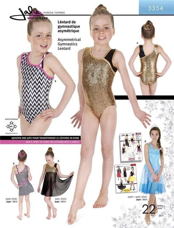 Jalie asymmetrische Trikot Gymnastik Kostüm Schnittmuster 3354