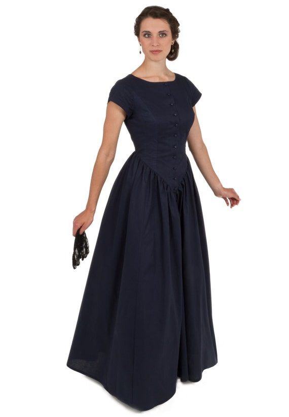 Victorian Dresses | Victorian Ballgowns | Victorian Clothing Victorian Style Cotton Dress $98.00 AT vintagedancer.com