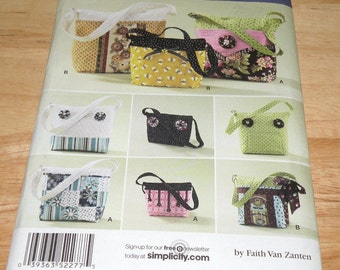 Simplicity 2277 Purse/Bag Pattern UNCUT and Complete
