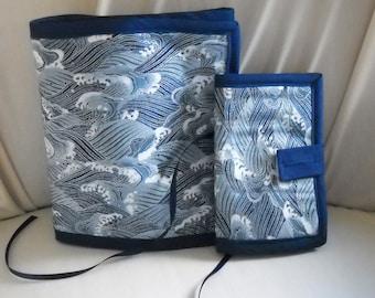 Ocean Waves Sewing Caddy, Needle Book, Organizers