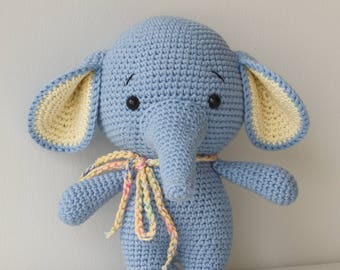 ALBERTO the Elephant Toy - Crochet Elephant - Stuffed Elephant - Soft Elephant Toy - Plush Elephant - Baby Toy - Baby Soft Toys