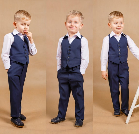 Ring bearer outfit Boy wedding suit Boy suit Boy wedding