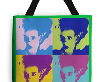 The bride of Frankenstein bag  rockabilly horror pin up bag New