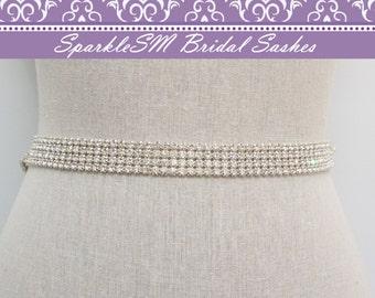 Crystal Bridal Sash, Wedding Sash Belt, Crystal Belt, Rhinestone Belt, Bridesmaids Sash, Rhinestone Sash, Jeweled Bridal Sash, Bridal Belt