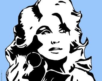 Dolly Parton Art Print w/ Quote