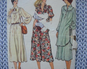 vintage 1980s Vogue sewing pattern 7142 misses dress tunic or top and pants size 12