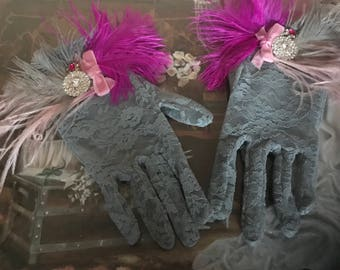 Lace gloves/Gatsby Gloves/Flapper gloves/Evening gloves/bridal gloves/Bridesmaid gloves/1920 gloves/Flapper accessories