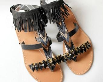 SALE!size 39 -US 8-8.5, Greek sandals, boho leather sandals, leather gladiators, womens sandals, sandales grecques, chaussures grecques