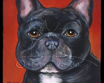 Pet PortraitBlack French Bulldog
