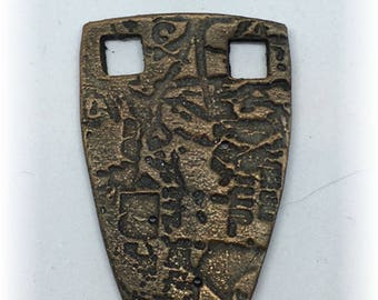 2 Piece Artisan Ceramic Focal Embellishment for Jewelry, Mixed Media, Art