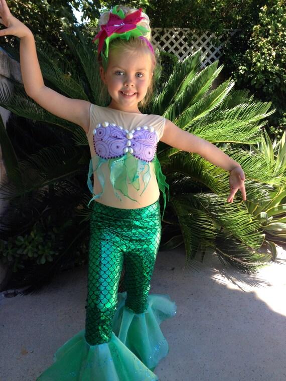 sc 1 st  Etsy & Ariel Costume Ariel Leggings ONLY for Girls Size