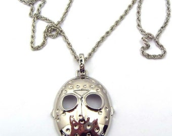 FRIDAY THE 13th Jason Voorhees Silvertone Pendant Necklace