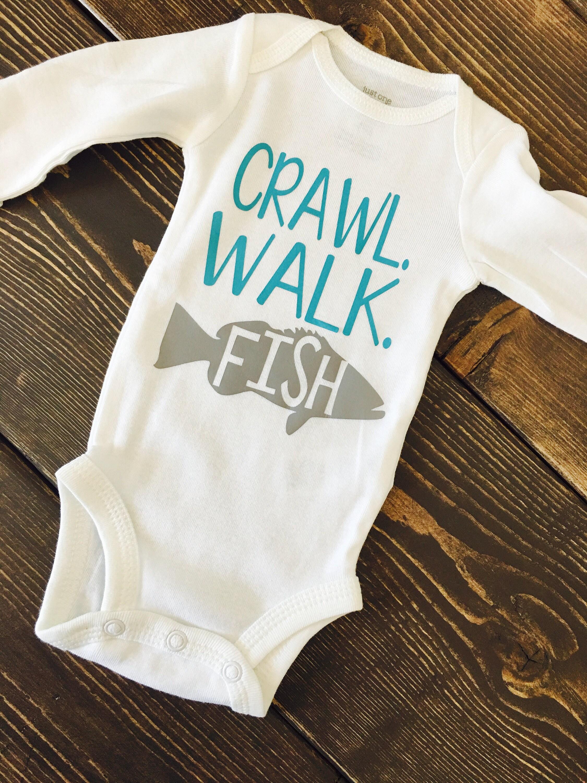 Crawl walk fish Fish Fishing baby Baby boy Baby girl