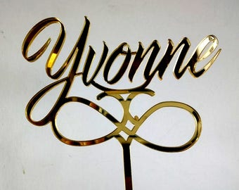 CAKE TOPPER NAME and motive - for birthdays, gifts, decor, party supplies