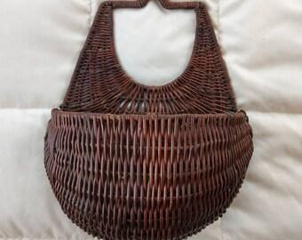 Large wicker wall basket/planter