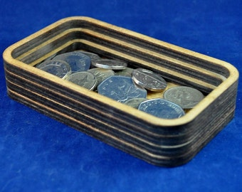 Mini Wooden Valet Tray: Choice of Colours, the perfect place for all your change and pocket fluff