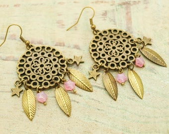 Kit / diy stars earrings