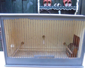 french vintage birds cage/birds home/manual works/canary cage/with antique waterbottle/curiosities cage