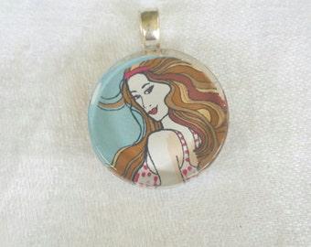 beach necklace, gifts for teens, gifts for girls,  beach jewellery, beach pendant, beach girl, summer beach