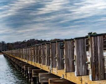Wooden Bridge Crossing Water
