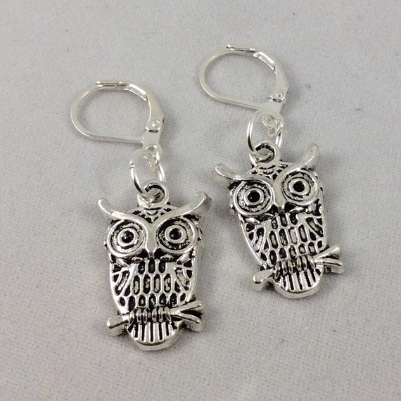 Owl Lever Back Earrings (Necklace sold separately)