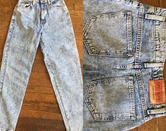 High Waisted Acid Wash Vintage Jeans Size 10