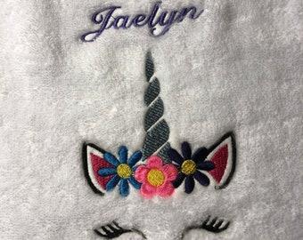 Princess Unicorn Towel w/ Name