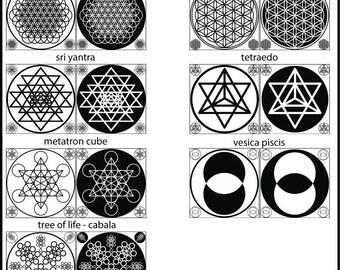 Sacred Geometry Flag
