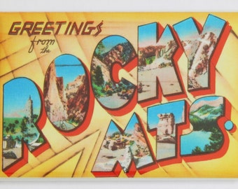 Greetings from the Rocky Mountains Fridge Magnet
