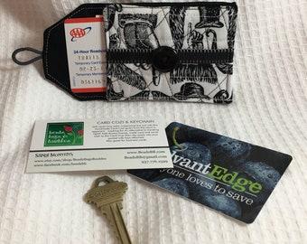 Black Mustache Card Cozi and Key Chain