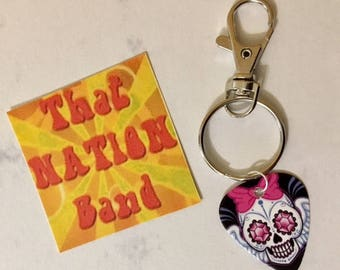 That NATION Band Day of the Dead Guitar Pick Key Ring