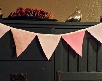 Pink Nursery Fabric Garland