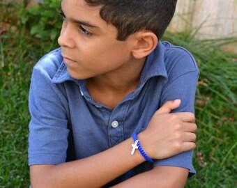 Boys Christian Knotted Bracelet