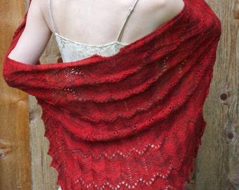 Malena Lace Shawl PDF Knitting Pattern