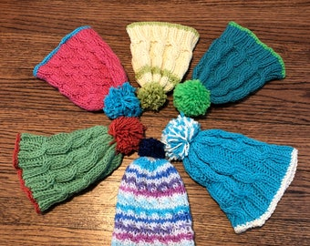 Cable Knit Baby Cap